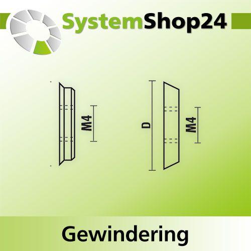 Klein Gewindering Zeichnung 2 Gewinde M4 12 Fur W182 Systemshop24